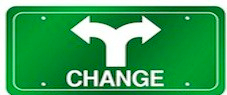 change-green-sign